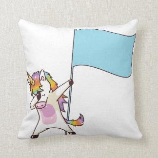 Color Guard Unicorn Throw Pillow