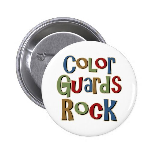 Color Guards Rock 2 Inch Round Button