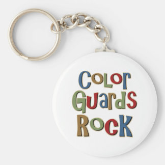 Color Guards Rock Basic Round Button Keychain