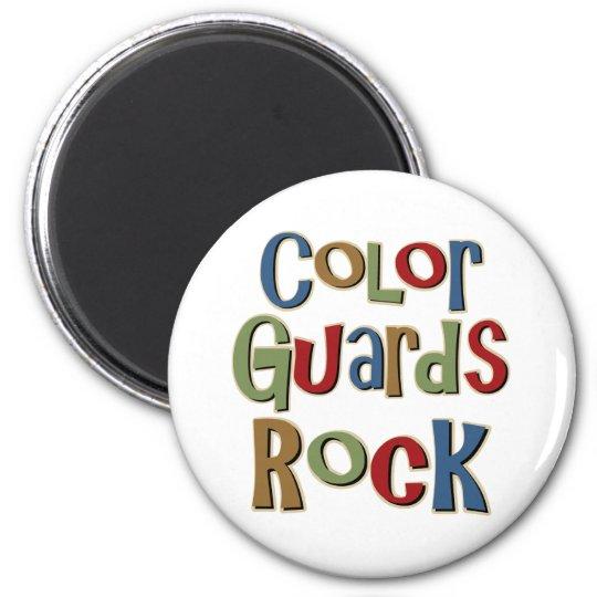 Color Guards Rock Magnet
