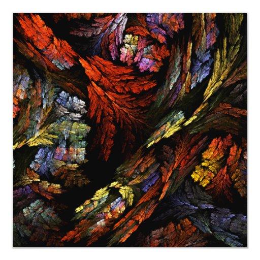 Color Harmony Abstract Art Card