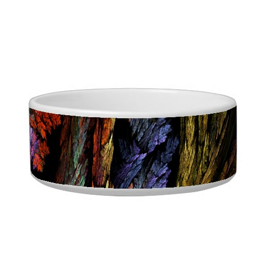 Color Harmony Abstract Art Cat Bowl