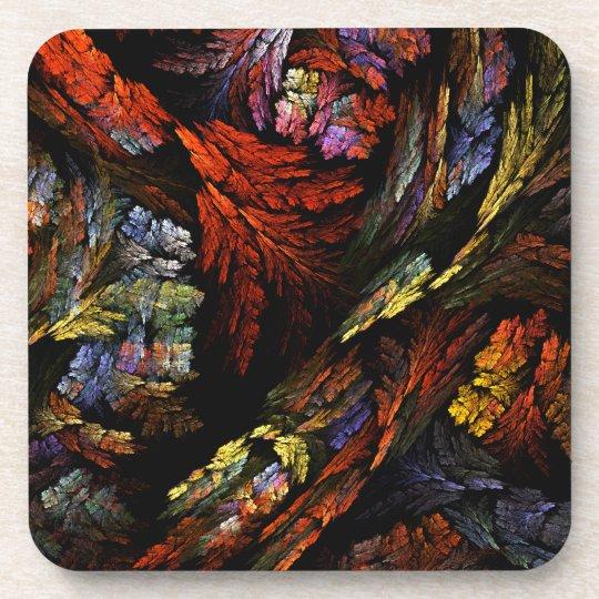 Color Harmony Abstract Art Cork Coaster
