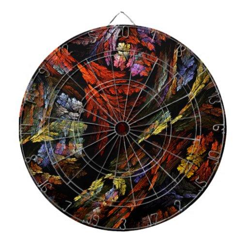 Color Harmony Abstract Art Dart Boards