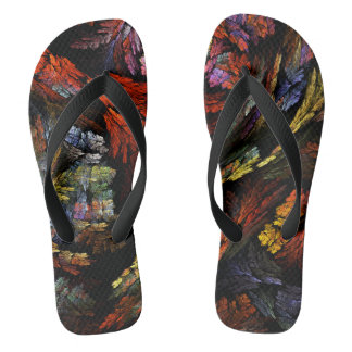 Color Harmony Abstract Art Flip Flops