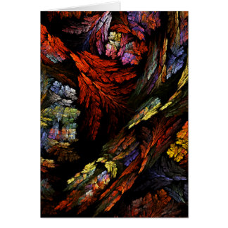 Color Harmony Abstract Art Greeting Card