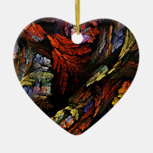 Color Harmony Abstract Art Heart Ornament