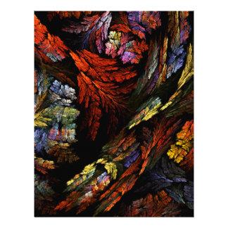 Color Harmony Abstract Art Letterhead
