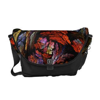 Color Harmony Abstract Art Messenger Bag