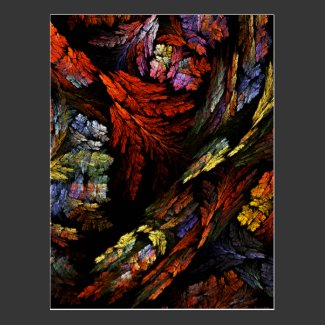 Color Harmony Abstract Art Postcard