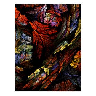 Color Harmony Abstract Art Postcard