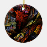 Color Harmony Abstract Art Round Ornament