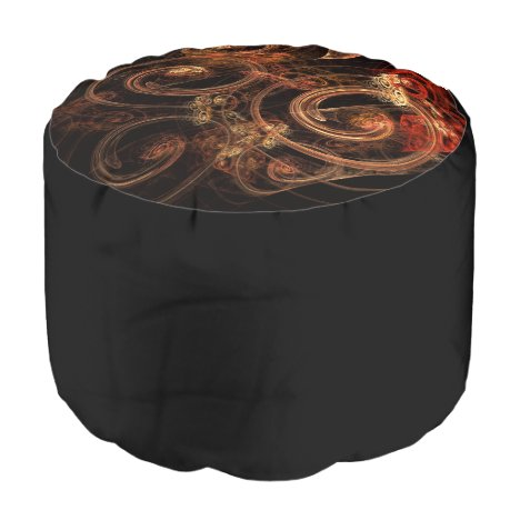 Color Harmony Abstract Art Round Pouf