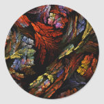 Color Harmony Abstract Art Round Sticker