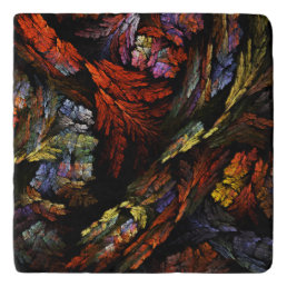 Color Harmony Abstract Art Stone Trivet