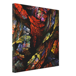 Color Harmony Abstract Art Wrapped Canvas Print