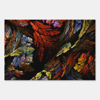 Color Harmony Abstract Art Yard Sign