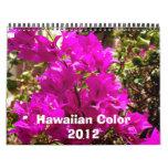 Color hawaiano 2012 calendarios