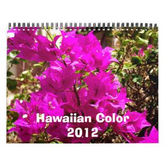Color hawaiano 2012 calendario