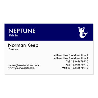 Color Header - Dark Blue - Neptune Double-Sided Standard Business Cards (Pack Of 100)
