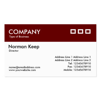 Color Header - Dark Maroon v2 Double-Sided Standard Business Cards (Pack Of 100)