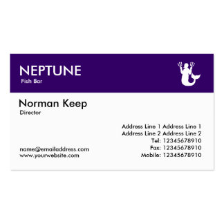 Color Header - Deep Purple - Neptune Double-Sided Standard Business Cards (Pack Of 100)