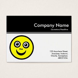 Color Header III - Black - Smily Face Business Card