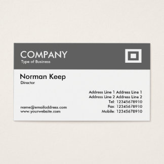 Color Header - Mid Gray Business Card