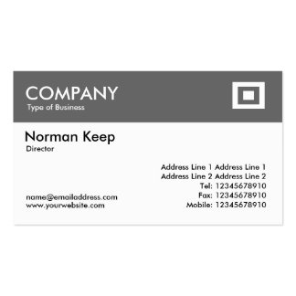 Color Header - Mid Gray Double-Sided Standard Business Cards (Pack Of 100)