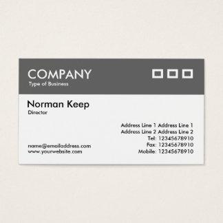 Color Header - Mid Gray v2 Business Card