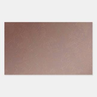 Color hecho a mano de cobre la Florida del Pegatina Rectangular