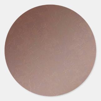 Color hecho a mano de cobre la Florida del Pegatina Redonda