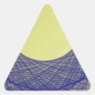 color hermoso del azul del brillo de la luz de colcomanias trianguladas