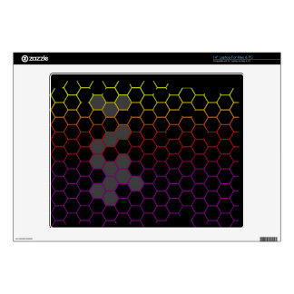"""Color Hex with Grey 14"""" Laptop Decal"""