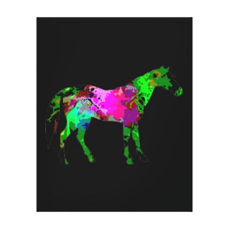 Color Horse Canvas Print - Horse Wall Art