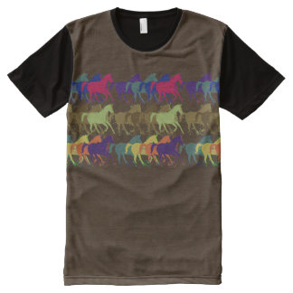 color horses running All-Over print t-shirt