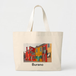 Color houses in Venice island Burano Italy Canvas Bags