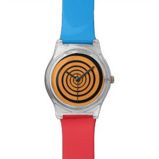 color hypnotic spiral hour watch