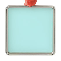 color ice blue metal ornament