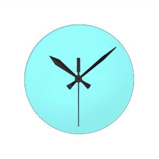 color ice blue round clock