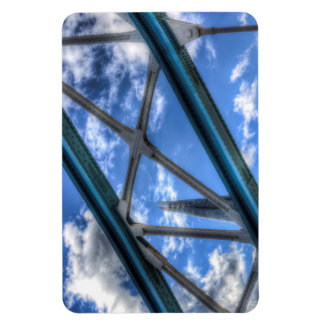 Color Image of the Shard Through the metalwork of Flexible Magnet