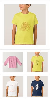 Color in kids t-shirts