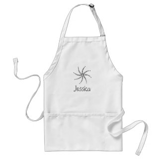 Color in Name Apron, Spiral Circles Adult Apron