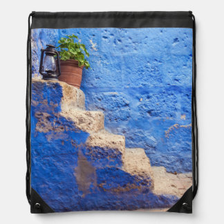 Color in the wall, Arequipa, Peru, Drawstring Bag