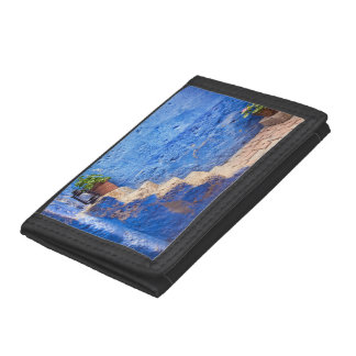 Color in the wall, Arequipa, Peru, Tri-fold Wallets
