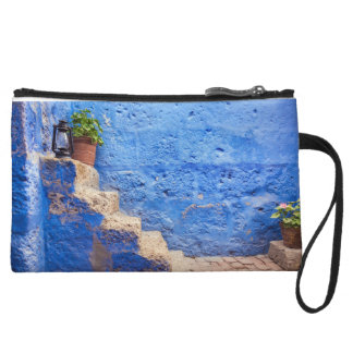 Color in the wall, Arequipa, Peru, Wristlet Purse