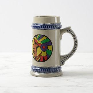 Color Indian Head 18 Oz Beer Stein