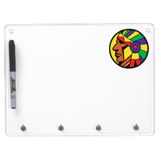 Color Indian Head Dry Erase Board With Keychain Holder