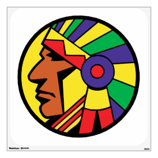 Color Indian Head Wall Graphic