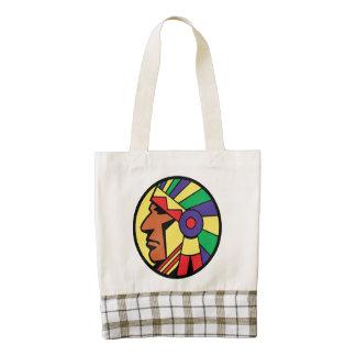Color Indian Head Zazzle HEART Tote Bag